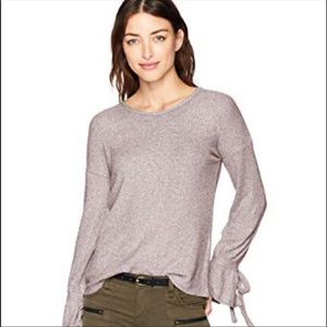 Lucky Brand Purple Rib Pullover Top size